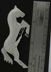 Jumping Horse Pin Southwest Sterling Silver Hand made YAZZIE