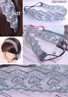 Celebrity Lace Ribbon Soft Hair Headband GOSSIP Girl #2