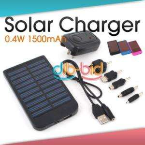 Solar Power Charger for PDA Cell Phone SE 1500 mAh 0.4W