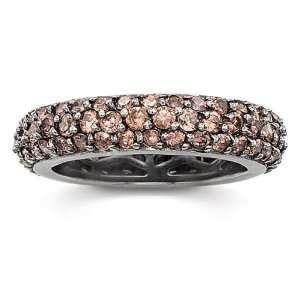 Simulated Chocolate Diamond Pave Eternity Band Ring SusanB. Jewelry