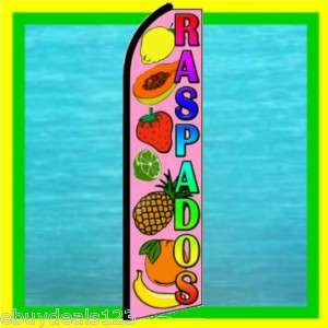 RASPADOS Snow Cones Feather Swooper Banner Ad Flag