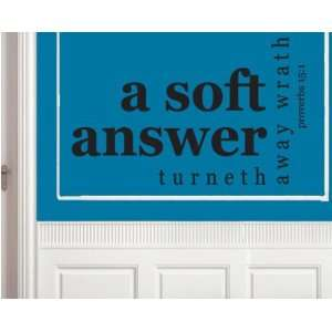 Christian Vinyl Wall Decal Mural Quotes Words Fa004asoftii: Everything