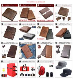 New Mens Business Wallet Purse Small Handbag Leather