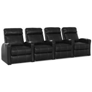 Shubert Power Reclining Armless Loveseat in Cody Black