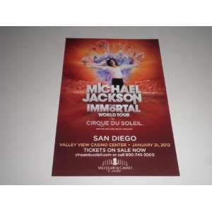 Cirque du Soleil MICHAEL JACKSON Immortal Tour Promo Mini