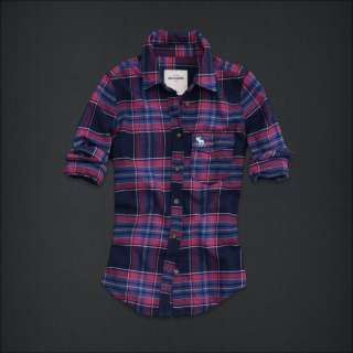 New ABERCROMBIE & FITCH Kids Girls Choe Plaid Flannel Shirts