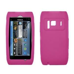 Pink Silicone Skin Soft Case for Nokia N8 Cell Phones & Accessories