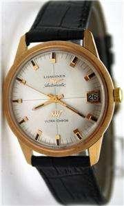 MINT 18K PINK GOLD LONGINES ULTRA CHRON AUTOMATIC WATCH 1960