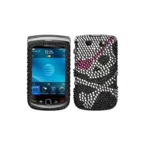Blackberry Torch 9800 Snap on Silver Black Girl Skull Full