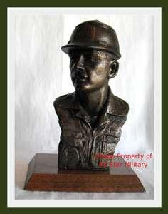 Civil Engineer US Air Force Bronze Bust Trophy Award Sculpture