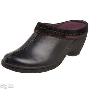 Clarks Privo Kingscliff Womens 11 Black Clog Heel Shoes