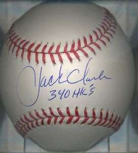 Jack Clark San Francisco Giants Signed Baseball COA