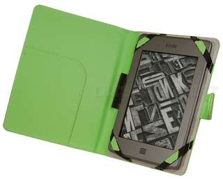 Premium Smooth Green Leather Case Cover Folio for  Kindle Touch