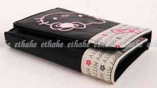 Hello Kitty Trifold Mini Wallet Card Holder Black I7SW