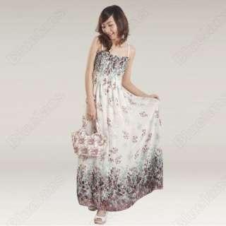 Fashion BOHO Beach Ladies Sexy Halter Bohemia Chiffon Long Dress