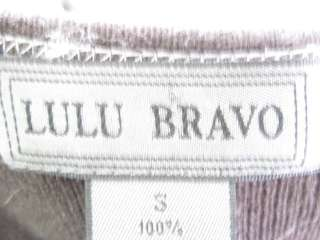You are bidding on a LULU BRAVO Brown Cashmere Long Sleeve Sweater in