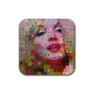 Marilyn Monroe 60s Hippy Pop Art Pic Rubber Coasters