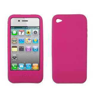 iPhone 4 Soft Silicone Gel Skin Case Hot Pink 654367688458