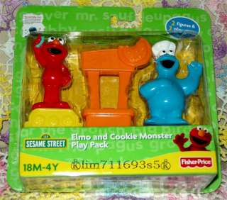Sesame Street Elmo & Cookie Monster Play Pack Figures
