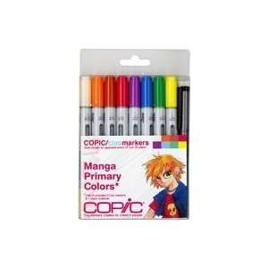 Copic Markers 9 Piece Ciao Manga Set, Primary Arts