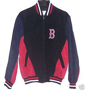 Boston Red Sox 100% Suede Leather Jacket size Medium