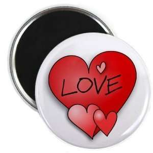 Creative Clam Red Love Heart Valentines Day 2.25 Fridge
