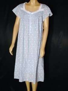 ... New 100% Cotton Knit Eileen West Nightgown~Small~ 62 ... b3e291793