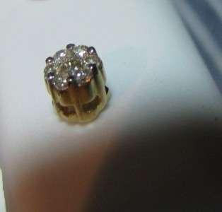 SCRUMPTIOUS 10K YELLOW GOLD DIAMOND STUD EARRINGS