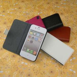 style 4 colour genuine leather case for iphone 4 4s case cover house