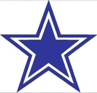 Dallas Cowboys star logo vinyl football wall art NFL 74