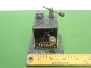MARCONI ERA OLD HOWE CRYSTAL RADIO RECEIVER & SCHWARZE EAR PHONES