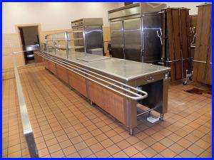 Stainless Steel Food Service Counter/Line 22 Feet Cooler Countertop