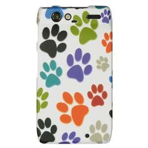 Dog Paw Print Design Hard 2 Pc Plastic Snap On Case + LCD Screen