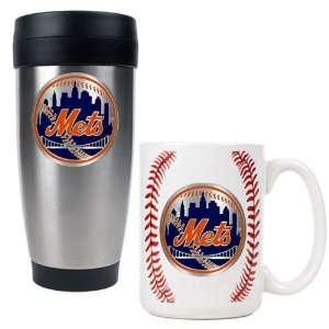 New York Mets MLB Stainless Steel Travel Tumbler & Game