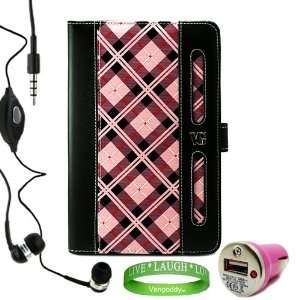 Executive Harlan PINK Checker Plaid Melrose Leather Case