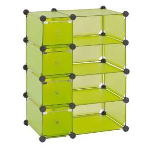 Sandusky Lee MSCD 8GN Green Steel Modular Cube with Drawers Storage