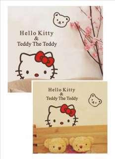 Hello Kitty&Teddy The Teddy wall decal vinyl Wall decor Sticker in kid