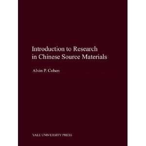 in Chinese Source Materials (9780300114171): Alvin P. Cohen: Books