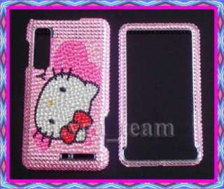 Kitty Bling Case Cover For Motorola Droid 3 III XT862 XT883 DC