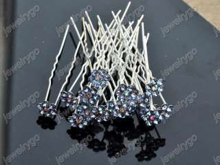 100 MIX LOT CRYSTAL Bridal HAIR JEWELRY womens HAIRPINS