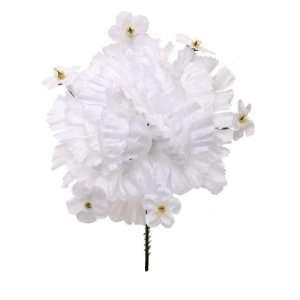 100 Carnation With Gypsophila 5 White Artificial Silk Flower