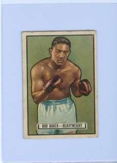 1951 Topps Ringside BOB BAKER Heavyweight #25 PR
