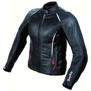 Powertrip Ladies Harlow Leather Motorcycle Jacket Black
