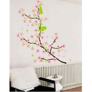 Tree with Pink Flowers Sticker Decal for Baby Nursery Kids Room Baby