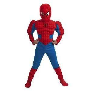 Boys Classic Spider Man Muscle Costume   Small