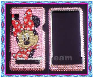 Disney Minnie Bling Case Cover Motorola Droid 2 A955 pk
