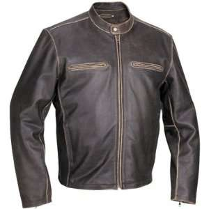 River Road Drifter Leather Motorcycle Jacket X Large (Size