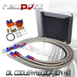 17 ROW 32MM BLK ENGINE OIL COOLER+FILTER RELOCATION KIT