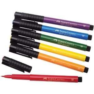 Faber Castell Pitt Artist Brush Pen Set basic set of 6