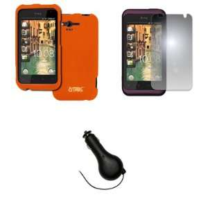 EMPIRE HTC Rhyme Orange Rubberized Hard Case Cover